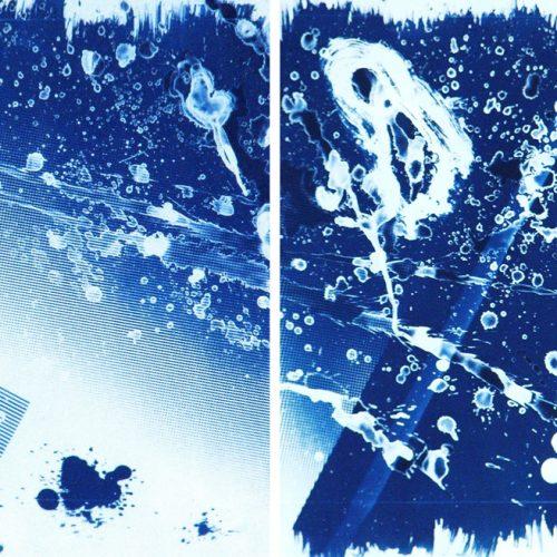 Cianotipia sobre papel - Splash