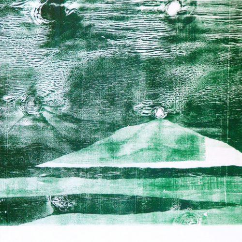 Xilogravura sobre papel - Grande onda, releitura de Hokusai