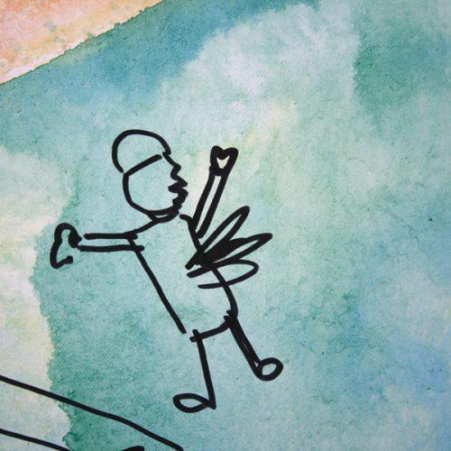 Revolução - Pintura e colagem sobre tela