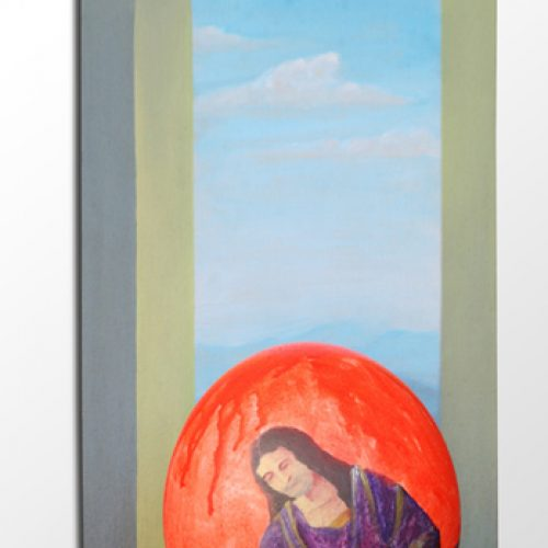 Pintura em Ovo de Avestruz