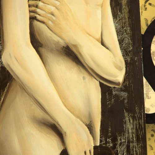 Adão e Eva em exposição no SESC Ribeirão Preto - detalhe