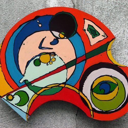 Bebê -Pintura sobre Eucatex