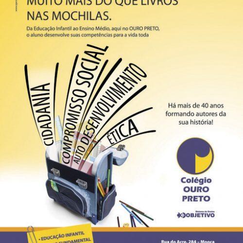 Anúncio revista - Colégio Ouro Preto