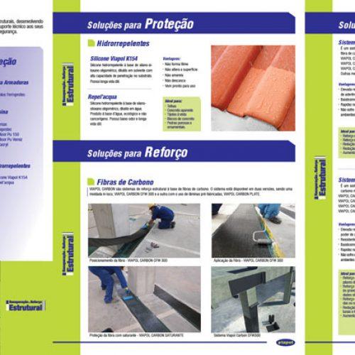 Folheto de 21 x 30 cm, 10 pág. - Viapol