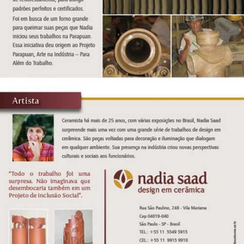 Folder de produtos Nadia Saad