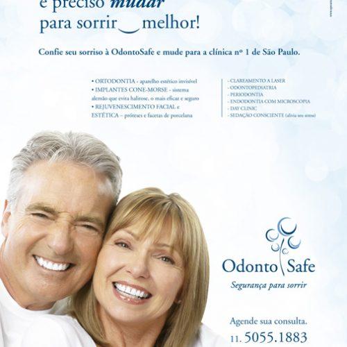 Anúncio revista - clínica Odonto Safe