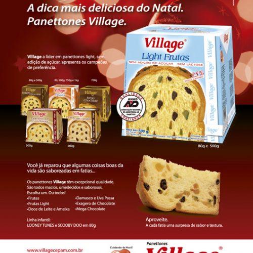 Anúncio revista - Panettone Village