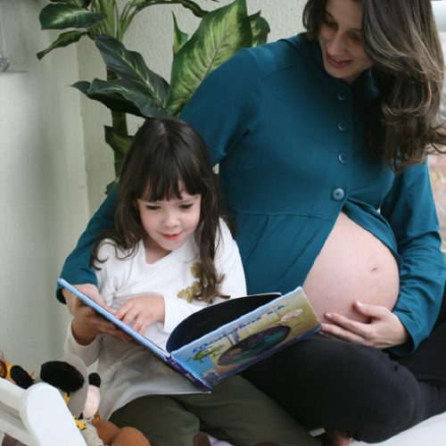 Ensaio fototográfico grávida e irmã